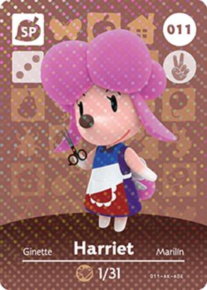 Harriet amiibo card