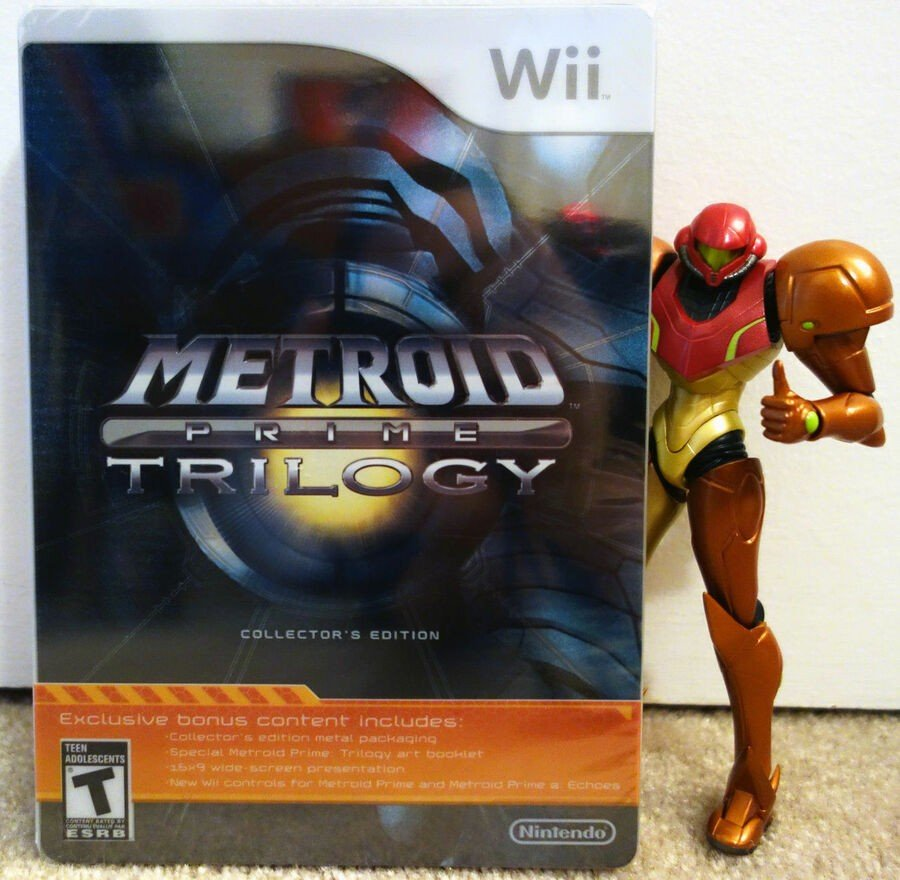 Samus gives her Prime trilogy thumbs up