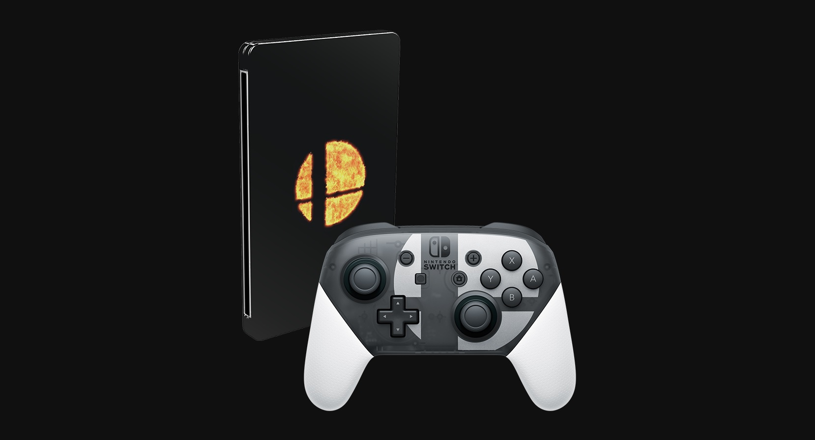 Super Smash Bros Ultimate Special Edition Controller And Game Joystick Double Pad Transparant Wellcome