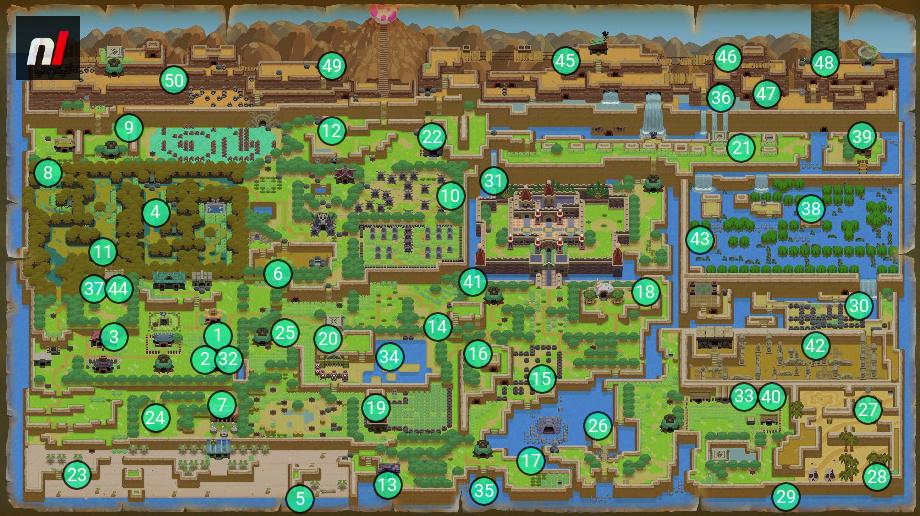 Zelda Link's Awakening Walkthrough - Secret Seas Map and ... on zelda nes map, zelda spirit tracks map, legend of zelda map, zelda wii u map, zelda hyrule map, zelda wind waker map, zelda map second level 2,
