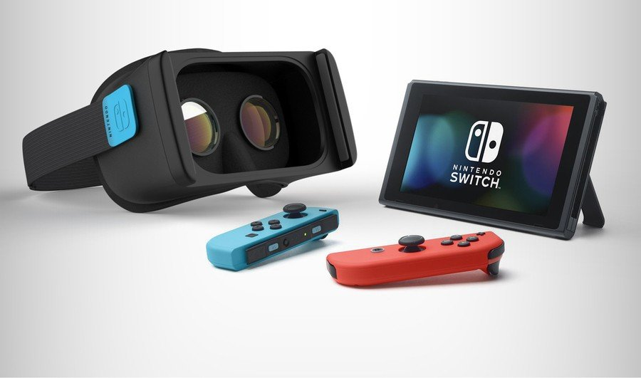 A mock up of how a Switch VR headset might look