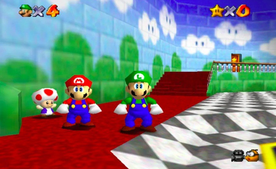 Luigi had to be removed from Super Mario 64; was this where Super Mario 128 all began?