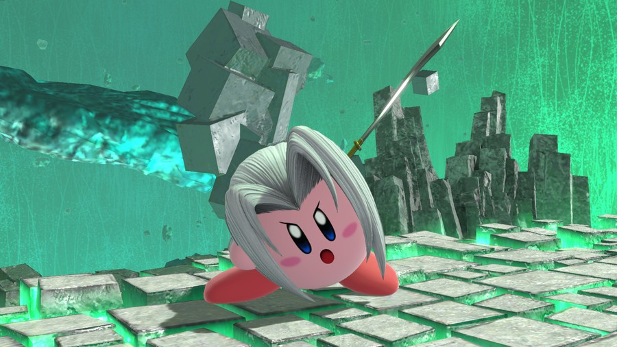 Kirby wielding the Masamune