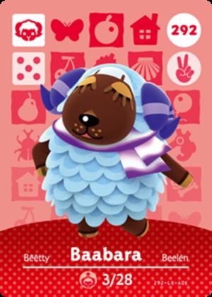Baabara amiibo card