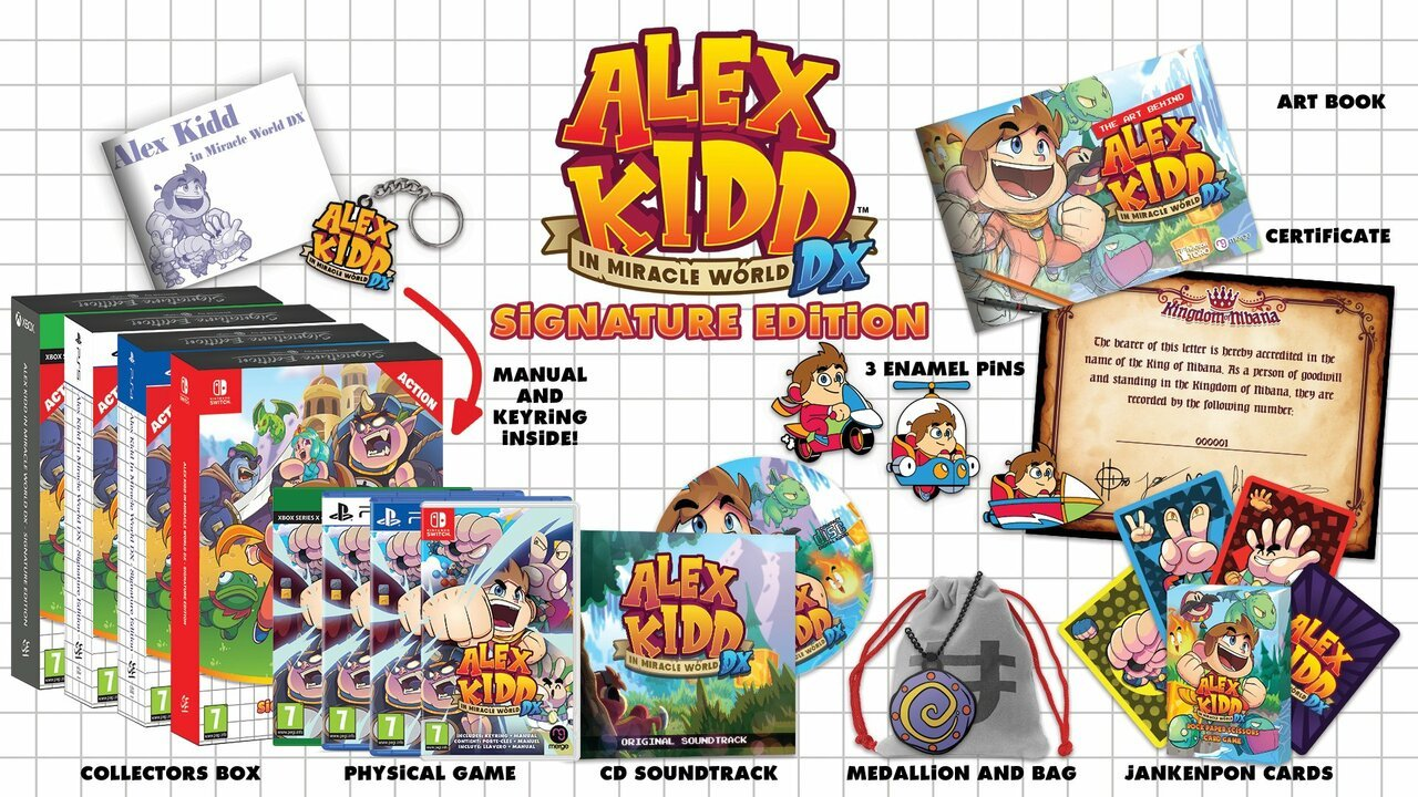 Alex Kidd at Miracle World DX Lands in June, along with a great Signature Edition