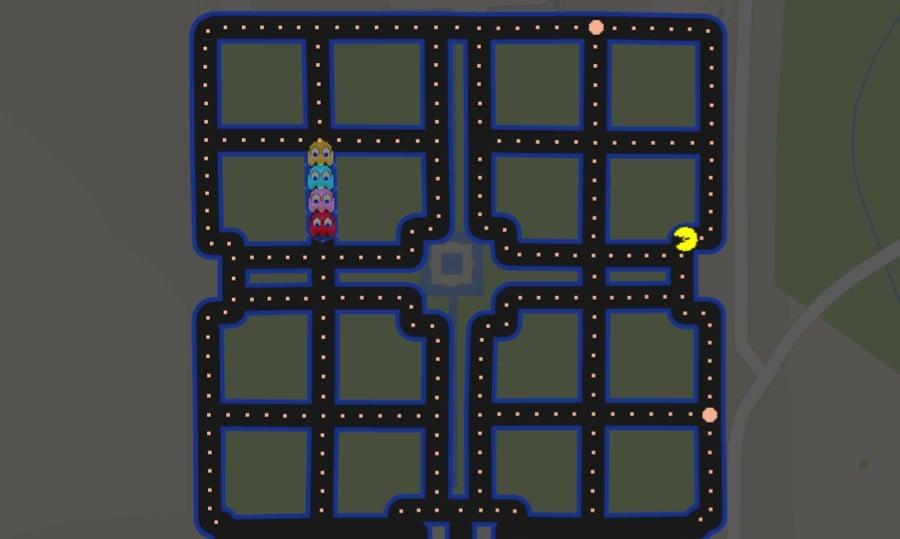 Pac Man Google Maps