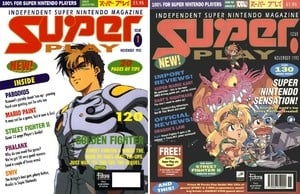 Spot the difference: On the left is what was nearly issue one's cover, and on the right is the (far superior) published edition