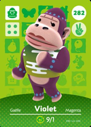 Violet amiibo card