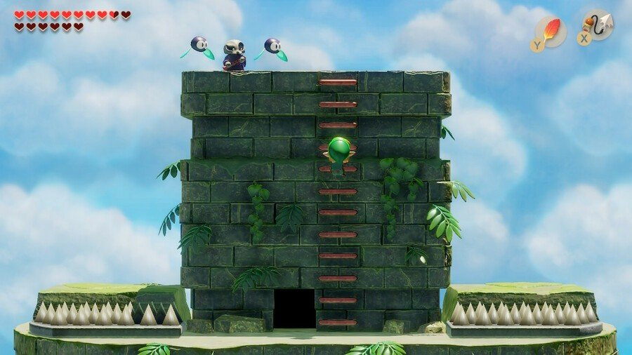 Link climbs to summit of Eagle's Tower