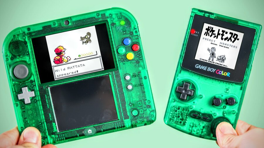Green 2DS and Green Game Boy