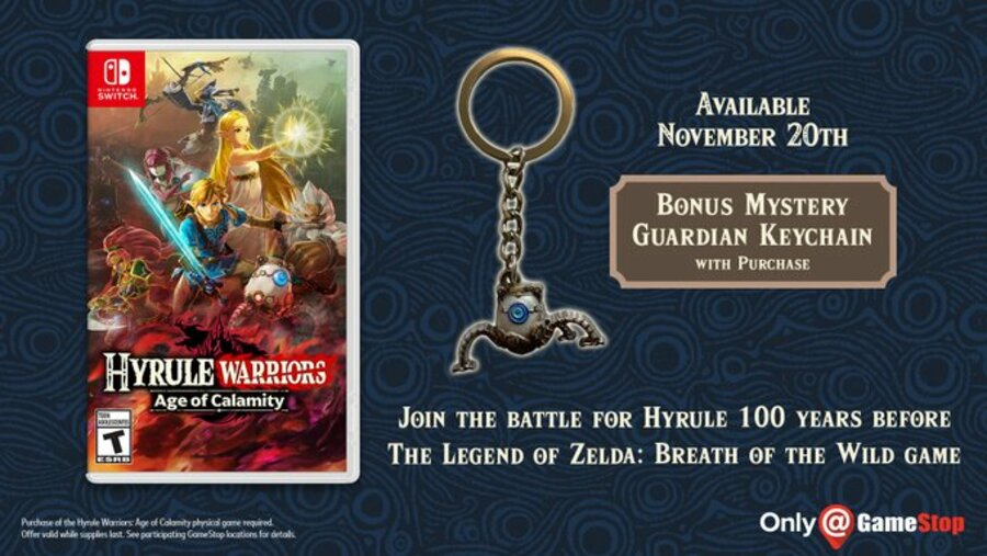 Hyrule Warriors Age Of Calamity Pre Order Bonuses Begin With Exclusive Guardian Keychain Nintendo Life