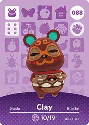 Clay amiibo card
