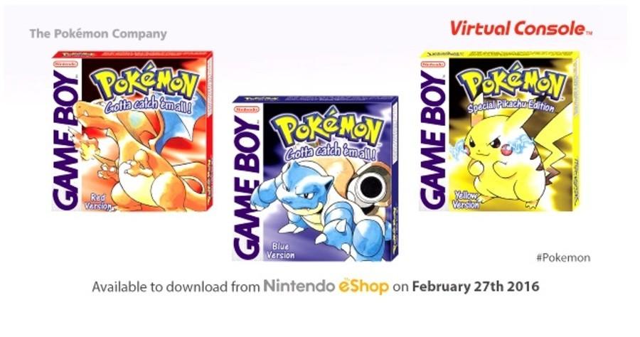 Pokemon Original Games VC