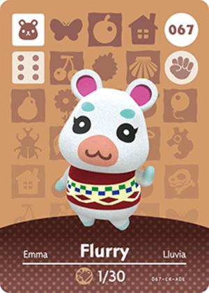 Flurry amiibo card