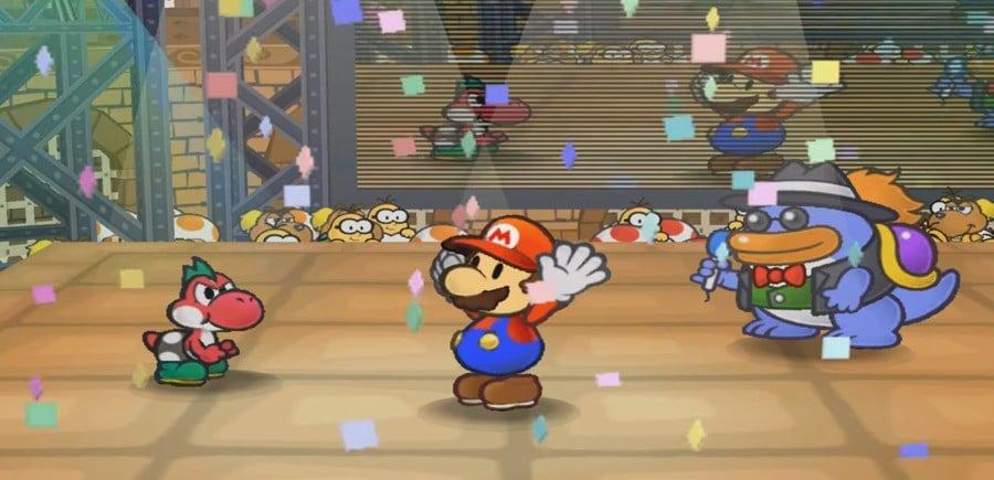 Wrestleboi Mario wins a match