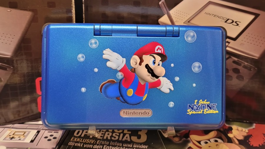 Here's a look at that special Super Mario 64 DS console...