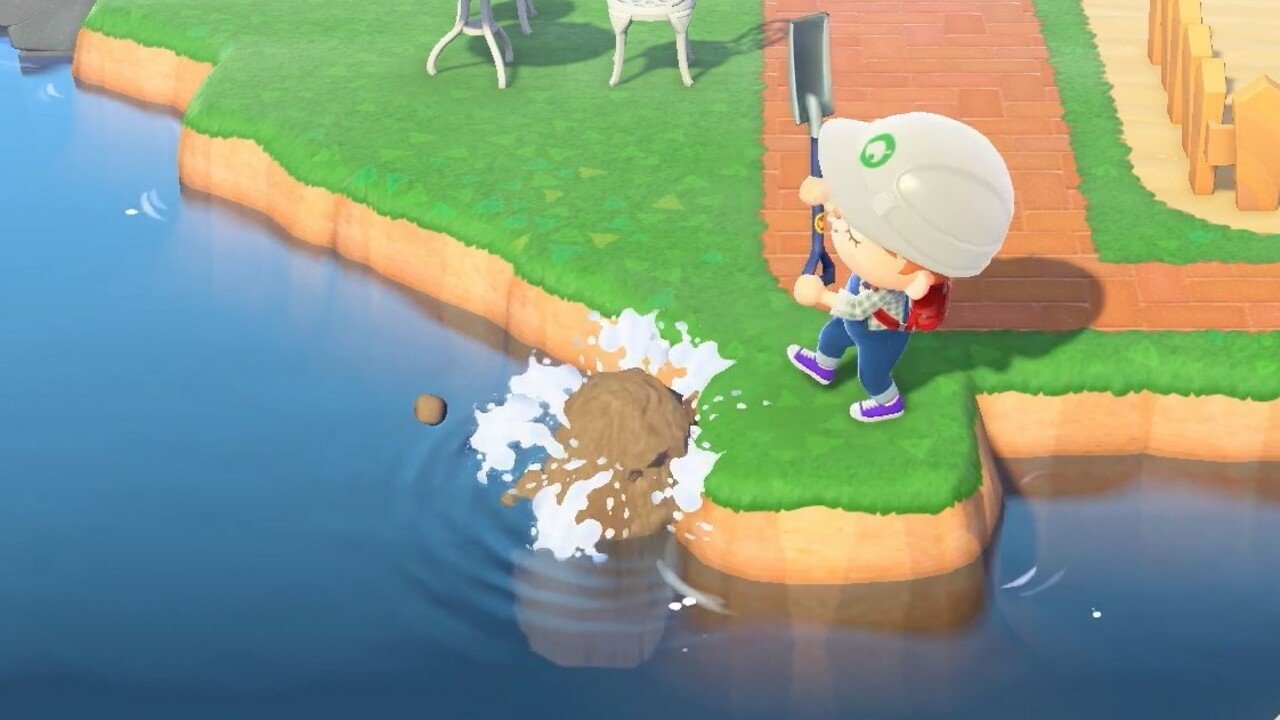 Remodel The Landscape In Animal Crossing: New Horizons To Make Your Own Waterfalls