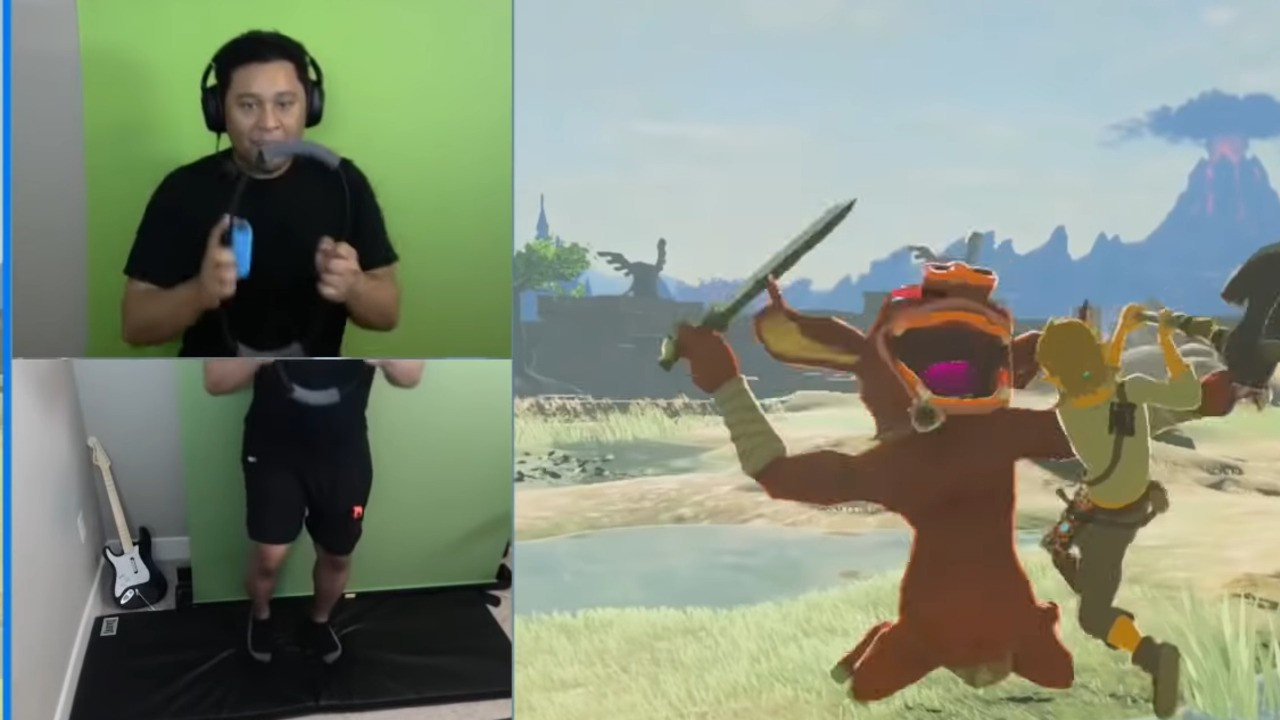 Random: Ring Fit Adventure User Discovers A Healthy Way To Play Zelda: Breath Of The Wild