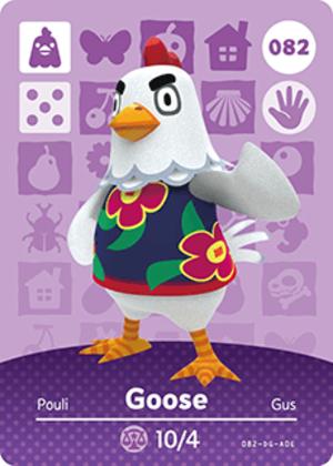 Goose amiibo card