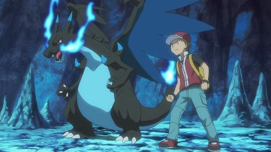 Mega Charizard X in the Pokémon anime