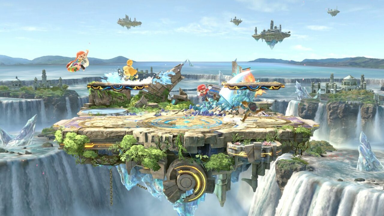 A Closer Look At The Small Battlefield Stage In Super Smash Bros. Ultimate