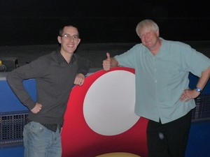 Charles Martinet (right), voice of Mario and friends