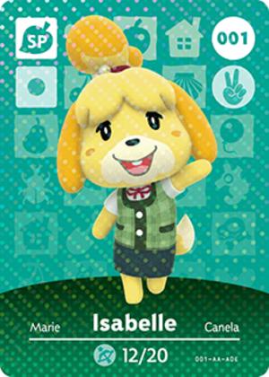 Isabelle amiibo card