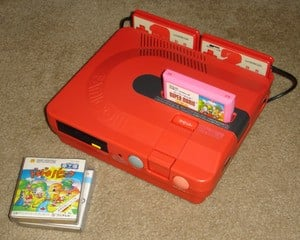 The Famicom Twin was produced by Sharp under licence from Nintendo, and remains a hugely collectable console
