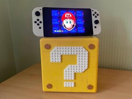 Lego Mario Block Switch OLED