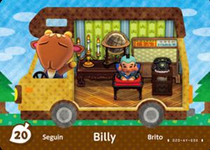 Billy amiibo card