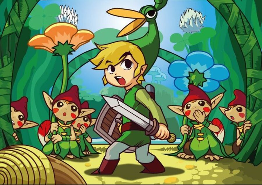 Legend of Zelda Minish Cap by Kuroi No Okami D49 Ba5 A
