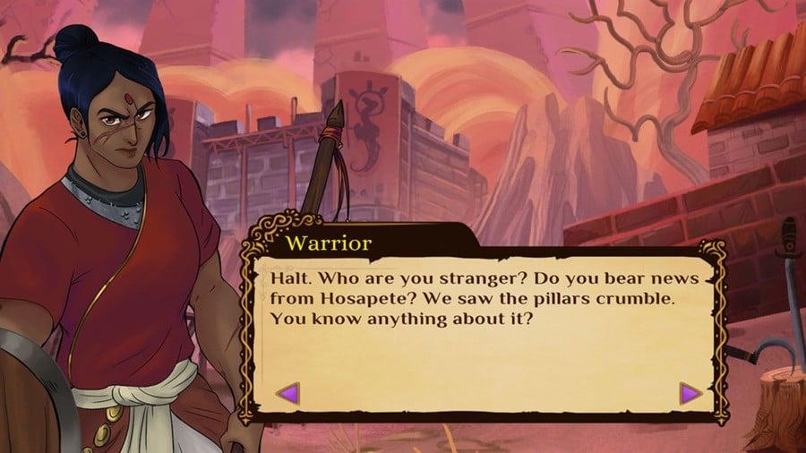 Mystic Pillars screenshot of story