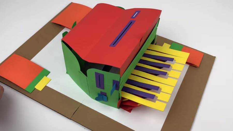 PaperPaul's homemade piano creation