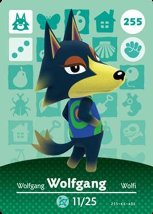 Wolfgang amiibo card