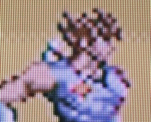 The Nintendo Life camera isn't capable of doing justice to the upscaled image, but Strider Hiyru has never looked better on our TV - take our word for it