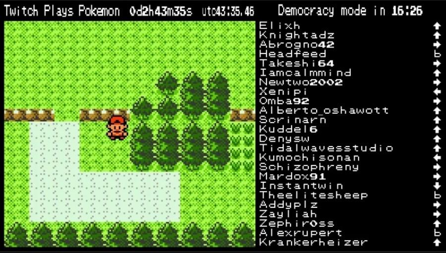 Twitch Plays Pokémon playing Pokemon Crystal