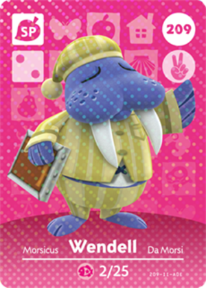 Wendell amiibo card