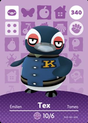 Tex amiibo card