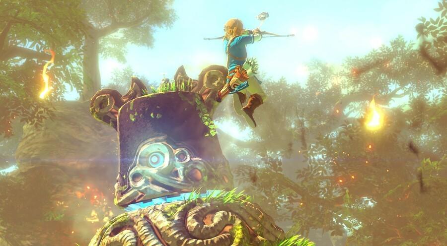 Zelda Action Shot