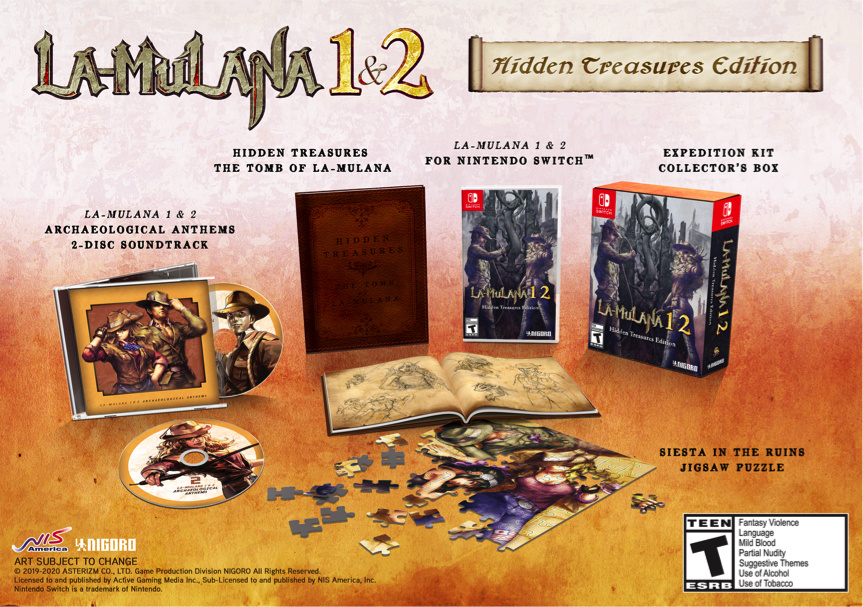 La-Mulana 1 & 2 Launches On Switch In March, And It Even Comes With A Jigsaw Puzzle