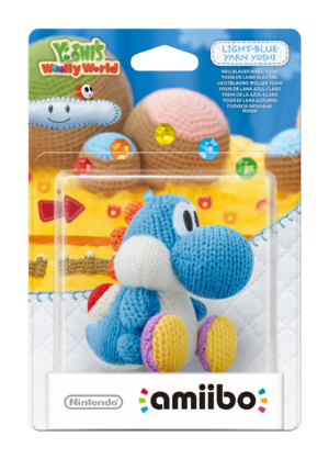 Light Blue Yarn Yoshi amiibo Pack