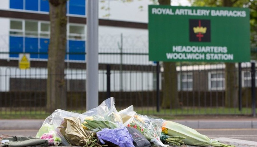 Flowers have been left at the scene