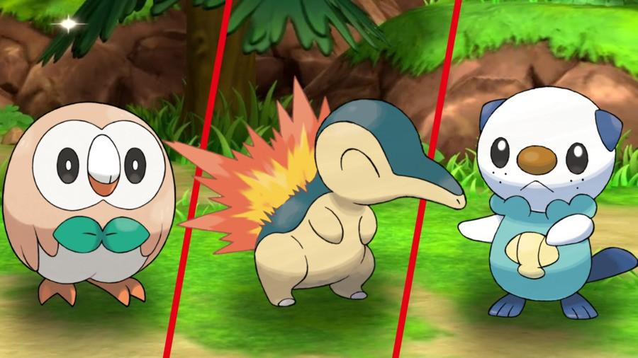 Pokemon Choices: Rowlet/Cyndaquil/Oshawott
