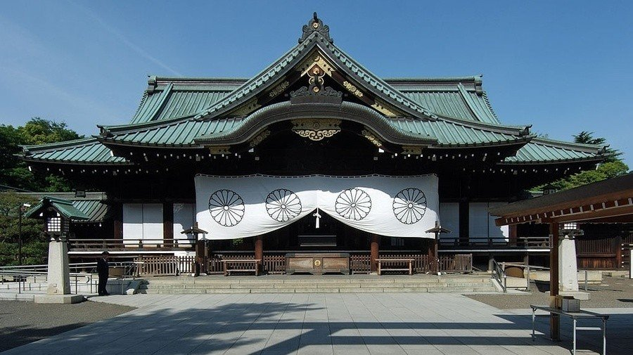 The Yasukuni Shrine in Tokyo, Japan