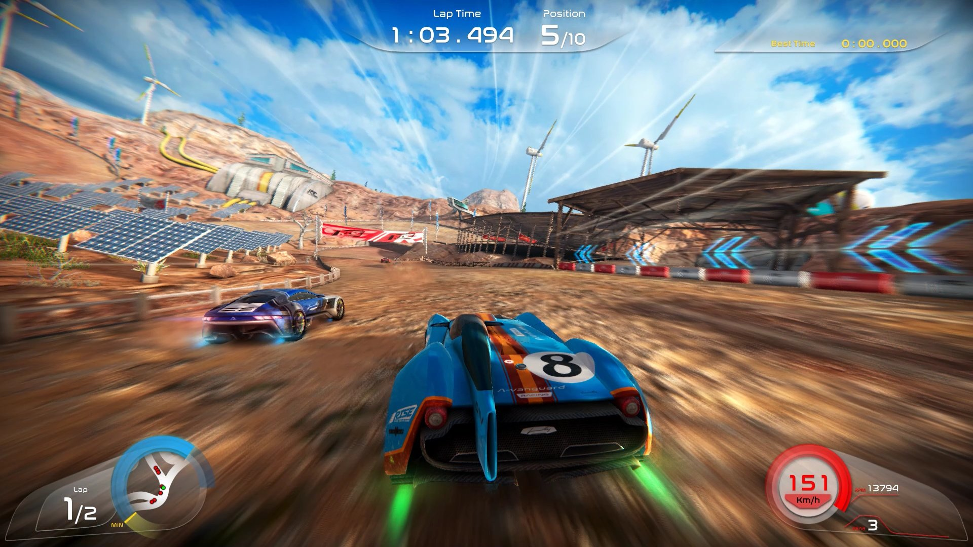 Arcade Racer Rise: Race The Future Speeds Onto Switch This Month