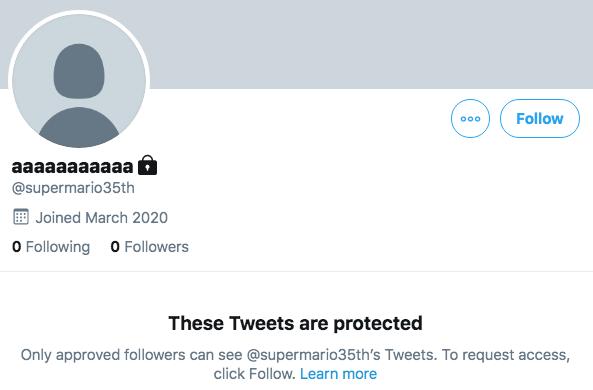 Super Mario 35e Twitter