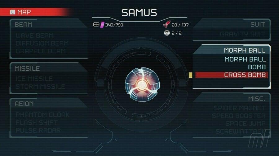 Metroid Dread Cross Bomb