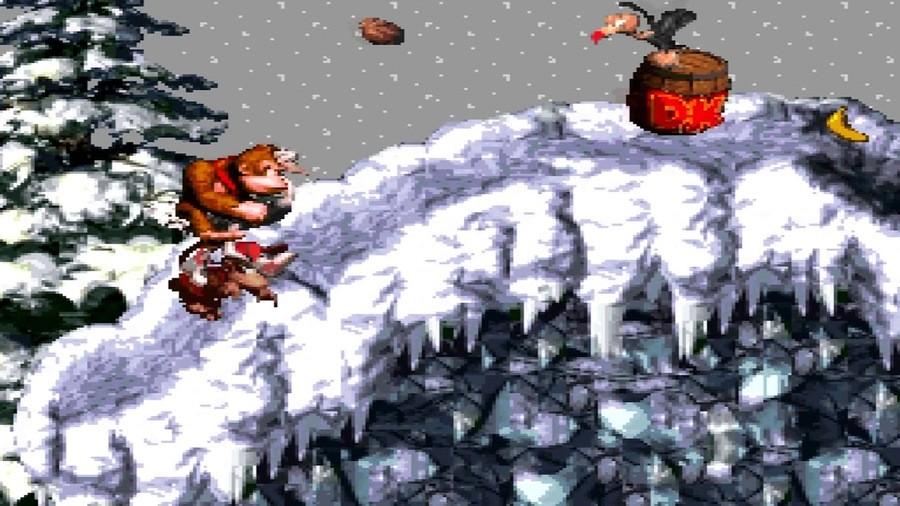 Donkey Kong Country - Gorilla Glacier World (SNES)