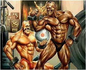 Samson and Adon love protein!