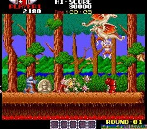 The challenging original arcade version of Rygar!